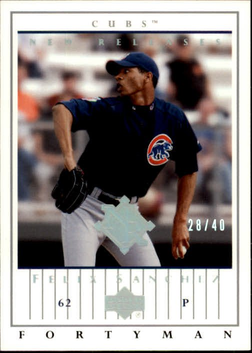 2003 Upper Deck 40-Man 914 Felix Sanchez NR RC