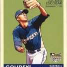 2009 Upper Deck Goudey Mini Navy Blue Back #105 Alcides Escobar