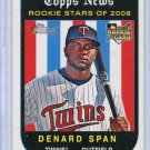 2008 Topps Heritage 567 Denard Span (RC)