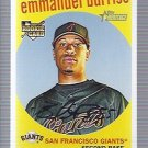 2008 Topps Heritage 589 Emmanuel Burriss RC