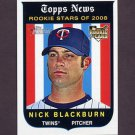 2008 Topps Heritage 593 Nick Blackburn RC