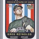 2008 Topps Heritage 605 Greg Reynolds RC