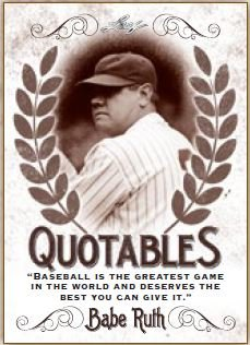 2016 Leaf Babe Ruth Collection Quotables