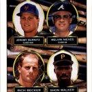 1993 Topps 658 Jeromy Burnitz/Melvin Nieves/Rich Becker/Shon Walker RC