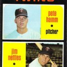 1971 Topps 74 Rookie Stars/Pete Hamm RC/Jim Nettles RC