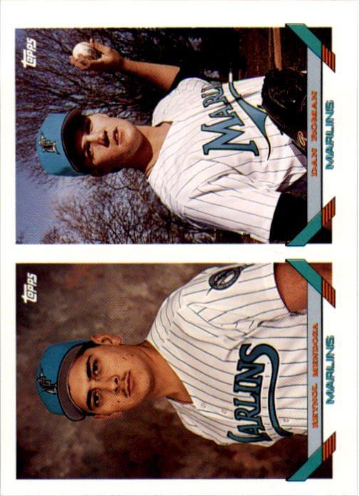 1993 Topps 782 Reynol Mendoza/Dan Roman RC