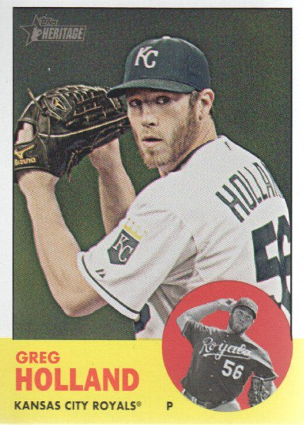2012 Topps Heritage 82 Greg Holland RC