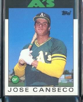 1986 Topps Traded 20T Jose Canseco XRC