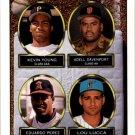 1993 Topps 494 Kevin Young/Adell Davenport/Eduardo Perez/Lou Lucca RC
