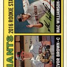 2016 Topps Heritage 187 Trevor Brown RC/Mac Williamson RC