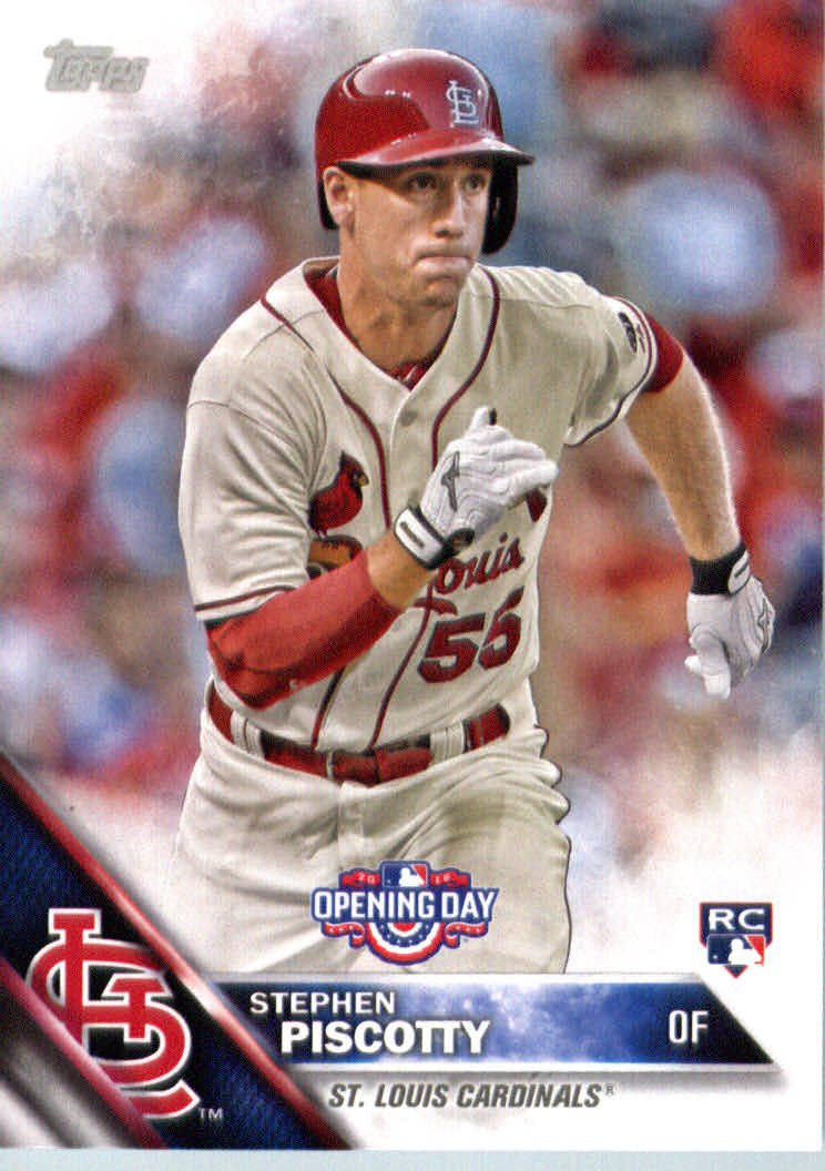 2016 Topps Opening Day OD161 Stephen Piscotty RC