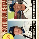2017 Topps Heritage 165 Dustin Molleken RC/JaCoby Jones RC