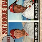 2017 Topps Heritage 275 Roman Quinn RC/Jake Thompson RC