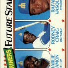 1980 Topps 672 Charlie Beamon RC/Rodney Craig RC/Rafael Vasquez RC