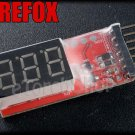 RC 2-6S Li-Po Li-ion Battery Capacity Display Monitor