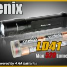 Fenix LD41 Cree XM-L U2 Led 520 Lm 6 Mo Dual Switch AA Battery Flashlight Torch