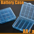 2x Blue color Plastic Battery Carrying Case Holder f 4-cell AA aaa Sanyo Eneloop