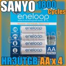 SANYO 3rd Eneloop 4 AA HR-3UTGB-4H 2000mAh Rechargeable PreCharged NiMH Battery