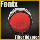 Fenix Red Filter Adapter AD301-R F Flashlight LD PD Series 10 20 30 21.5 x 18mm