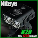 Niteye B20 Cree XM-L U2 LED 1200Lm Remote Control 18650 Pack Bicycle Flashlight