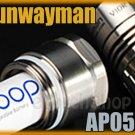 Sunwayman AP05Ti AA Battery Extender Tube F V10R Ti+ Cr123A Flashlight Torch