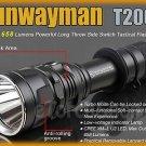 Sunwayman T20CS Cree XM-L U2 LED 658LM CR123A 18650 Long Throw Flashlight Torch