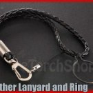 Leather Lanyard Hand Strap with Ring Coil For SpiderFire X03 L2 Surefire 6P 9P