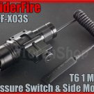 SpiderFire X03S Cree T6 LED 750LM Flashlight W 20mm Mount / Pressure Switch Set