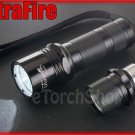 UltraFire WF 503A Cree U2 LED 5 Mo 900 LM Flashlight w Holster & Extenion Tube
