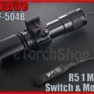 UltraFire WF 504B Cree R5 LED Pressure Switch 20mm Mount Flashlight Airsoft Set