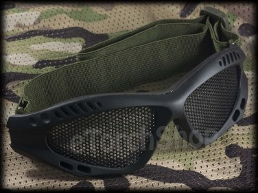 Airsoft Tactical Protection Mesh Glasses Goggle S Black