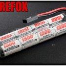 FireFox 9.6V 1500mAh Ni-MH AEG Airsoft CQB/R Battery RC