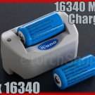 Nano Mini 16340 Charger with 2 x 880mAh Rechargeable Battery CR123A NBC-A001