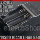 14500 10440 Li-ion Rechargeable Battery Smart Charger 100V-240V Worldwide Travel