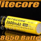 1x Nitecore NL186 18650 Li-ion 3.7V 9.6Wh 2600mAh Protected Rechargeable Battery