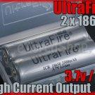 Ultrafire 2 x 18650 2500 mAh Protectd 4A Battery + Case