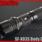 SpiderFire X03S Flashlight DIY Body Only *Parts f Surefire 6P 9P* LED Torch