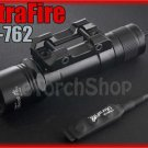 UltraFire UF-762 Flashlight w Remote Pressure Switch Without bulb LED Torch