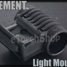Plastic TDI Style Flashlight Side Mount 20mm Rail F Torch Laser Airsoft OT0403