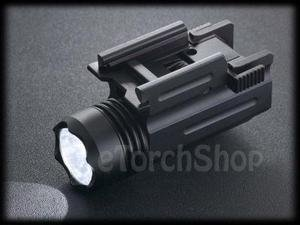 20mm Rail Mount with Cree Q5 Led 250LM CR123A Flashlight Torch Airsoft Paintball