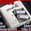 Ultrafire 138 Charger 2 x 16340 Protected Rechargeable Battery