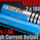 Ultrafire 2 x 18650 2600 mAh Protectd 4A Battery With Case