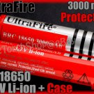 Ultrafire 2 x 18650 3000 mAh Protectd Battery + Case