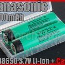 Panasonic 2x NCR18650A 18650 3100mAh Li-ion Rechargeable Battery w Case Japan