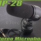 External Stereo Microphone MP-28 W 3.5mm jack F Digital Camera Nikon Canon ME-1