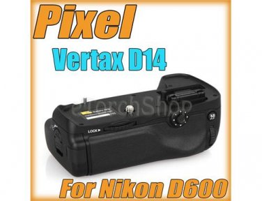 Pixel Vertax MB D14 For Nikon D600 Vertical Hand Grip Pack EN EL 15 AA Battery
