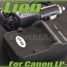 i-Lion LP-E6 Charger F Canon Battery Worldwild 100-240V US Plug W Car Adapter