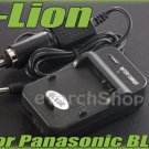 i-Lion DMW-BLE9E Charger F Panasonic Battery 100-240V US Plug W Car Adapter