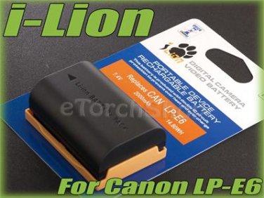 i-Lion LP-E6 2000 mAh 7.4V Battery Japan Cells For Canon EOS 5D II III 6D 7D 60D