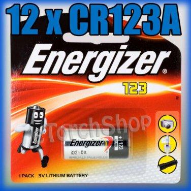 12 x ENERGIZER CR123A CR 123 123A 3V LITHIUM BATTERIES